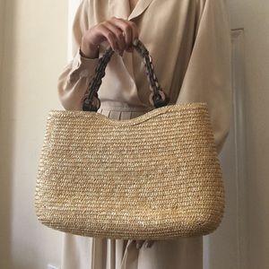 Handbags - VINTAGE WOVEN HAND BAG